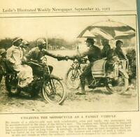 Advertising Utilizing The Motorcycle As A Family Vehicle Tandem Seat Canopy1915