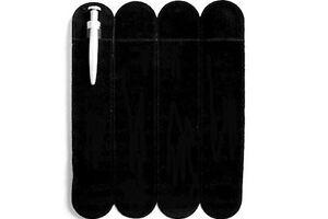 10 Black Velvet Pen Sleeve Pouch Made with Swarovski Crystal Elements Pen 16cm