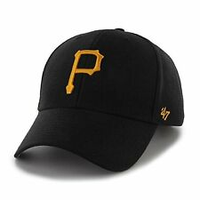 the latest 16758 cdc15 Pittsburgh Pirates 47 Brand MVP Strap Adjustable On Field Black Hat Cap MLB