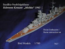 Crucero pesado Moltke 1943 1/700 Bird models transformación frase/resin conversion