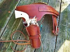 Reddog Leather Cowboy Western Holster and Belt, Single  Buscadero