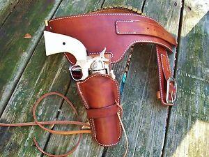 Reddog Leather Cowboy Western Holster and Belt, Single  Buscadero