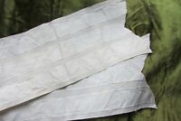 Beautiful Antique French 100% Silk Cream Ribbon Hat / Waist Sash 6ft 10""
