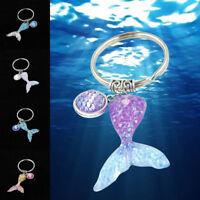 1Pc Gradient Mermaid Keychain Scales Fish Scale Tail Keyring Key Handbag Pendant