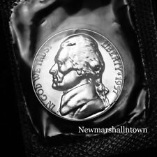 1957 Jefferson Proof Nickel from Proof Set in Mint Cellophane 2017 335