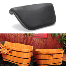 Pu Black Bath Pillow Bathtub Spa Head Rest Neck Support Back Comfort Tub #