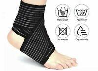 2x Bandage Fussgelenk Knöchelbandage Fußbandage Stütze Verband  Sprunggelenk Fuß