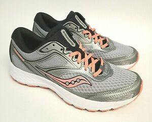 Saucony Cohesion 12 Womens Size 8 Versafoam Running Shoes S10471-3 Gray Pink