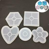 Resin Silicone Mold Crystal Epoxy Mould Coaster Cup Mat Jewelry Mould DIY Crafts