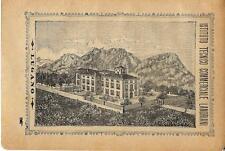 Stampa antica pubblicità ISTITUTO SCOLASTICO LANDRIANI Lugano 1895 Antique print