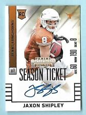 JAXON SHIPLEY 2015 CONTENDERS SEASON TICKET RC AUTOGRAPH CARD #200 TEXAS