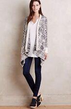 NEW Anthropologie Mazarine Jacquard Cardigan Sweater Size Large