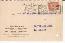 ROTTERDAM 1923 v. ZWANENBURG wIJNHAVEN import export Porcelein Metaalwaren