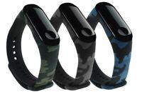 Silikon Camouflage Sport Strap Fitness Tracker Ersatz für Xiaomi Band Mi 4/3