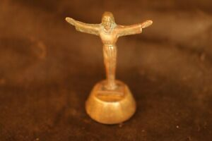 Antique Small statue made in Italy Jesus statue Very rare statue Made of metal