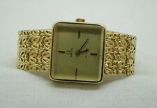 1970's Lovely Solid Heavy 18ct Gold Ladies Omega De Ville Bracelet Watch Small