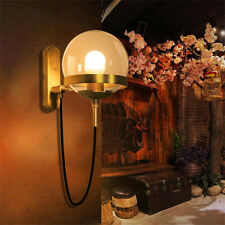 Vintage Globe Wall Mount Sconce Lamp Industrial Wall Light Glass Lampshade Decor