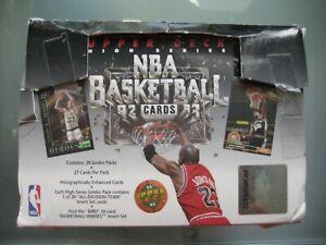 1992-93 Upper Deck Basketball Box Unsealed **High Series** 18 Sealed Jumbo Packs