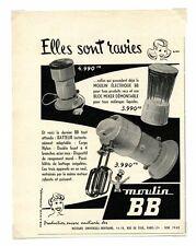 1950 / Publicité pour MIXER MOULIN BB / MOULIN ELECTRIQUE / FRLD132