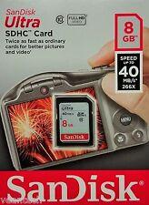 SanDisk Ultra 8gb SD SDHC, tarjeta de memoria 40mb/s - sdsdun 008g-g46 nuevo & OVP