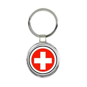 Gift Keychain : Switzerland Flag Never Underestimate The Power Swiss Expat
