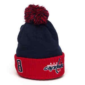 "Washington Capitals ""Ovechkin # 8"" NHL cuffed beanie hat with pom"