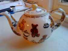 VINTAGE ENGLISH IRONSTONE TABLEWARE Teiera da Paul Cardew in ted-tea Design