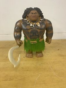 Disney Hasbro Moana Maui Action Figure Doll With Hook, Skirt and Necklace