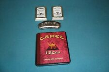 RARE VINTAGE CAMEL CREMA CIGARETTE TIN, MATCHES AND LIGHTER HOLDER