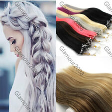 """26"""" Remy Human Hair Extension Easy Loop Micro Ring Beads Tipped Straight 100s"""