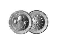 NEW 2 oz AG Envela .999 Fine Silver Round BU - High Relief CV-19 Edition
