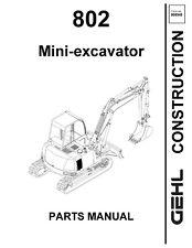 Gehl 802 Mini Excavator Service Parts Manual 2002 8545