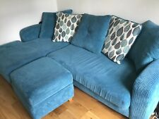 DFS L SHAPED SOFA AND STORAGE STOOL VGC TOO BE COLLECTED FROM MAIDSTONE AREA