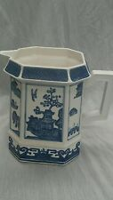 Gorgeous Johnson Brothers blue willow pitcher