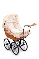 cuscino Nostalgia Passeggino Grigio coperta Carrello bambole da pascolo /& Legno Incl