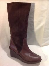 Flip-Flop Brown Mid Calf Leather Boots Size 37