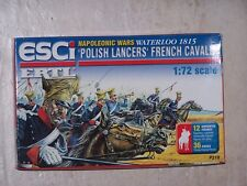 "Figurines ESCI/ERTL 1/72ème WATERLOO 1815 ""POLISH LANCERS"" FRENCH CAVALRY"