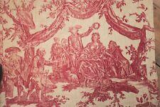 Toile de Jouy Fabric Antique Bed Cover Couronnement De La Rosiere 1782 textile