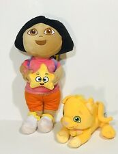 "Dora The Explorer  Carrying Backpack 14"" With Perrito Puppy Dog Plush 7"""