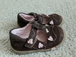 Infant Girls Jumping Beans Perfection Brown Shoes size 4
