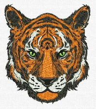 """Tiger, Exotic Cat, Wild Animal, Embroidered Patch 7""""x 8"""""""