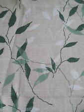195cm SANDERSON Greenwood Art Nouveau 1930s linen curtain fabric remnant