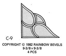 Stained Glass Corner Bevel Cluster Rainbow C9 Supplies - Great Discount Price!
