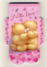 Hallmark cute bear forever friends MINI aerogram notepad memo message paper pink
