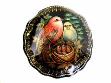 """Birds with Nest"" Lacquer Box - Made in Russia"