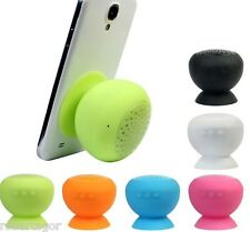 CASSA SPEAKER BLUETOOTH 3.0 VIVAVOCE A VENTOSA PER CELLULARE SMARTPHONE TABLET