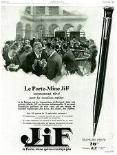 Publicité ancienne porte mine Jif 1928 issue de magazine
