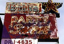 Bill's Party Shop Vintage Neon Sign 20x24 Hand Colored Photo Art Decor detroit