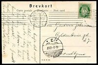 NORWAY BERGEN Cancel on Circulated Postcard 1907 VF