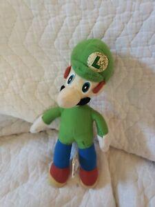 """Luigi Super Mario 2001 Kellytoy 13"""" Plush Doll Nintendo Toy Stuffed Kart Wario"""